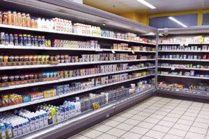 Spar Supermarkt Aarezentrum leckere Milchprodukte frisch aus dem Kühlregal